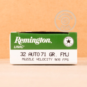 Image of Remington .32 ACP pistol ammunition.