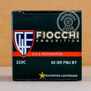 Image of 223 Remington ammo by Fiocchi that's ideal for training at the range.