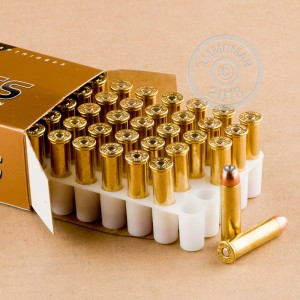 An image of 357 Magnum ammo made by Blazer Brass at AmmoMan.com.