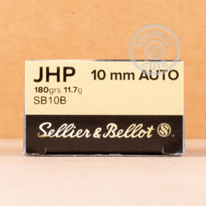 Photo of 10mm JHP ammo by Sellier & Bellot for sale at AmmoMan.com.