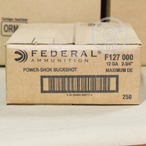 Photograph of Federal 12 Gauge 000 BUCK for sale at AmmoMan.com