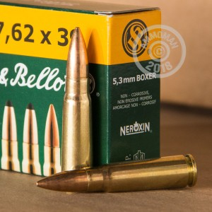 A photograph of 600 rounds of 123 grain 7.62 x 39 ammo with a FMJ bullet for sale.