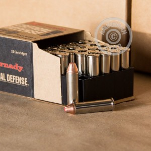 Image of 357 Magnum ammo by Hornady that's ideal for home protection.