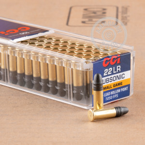 rounds of .22 Long Rifle ammo with Lead Hollow Point (LHP) bullets made by CCI.