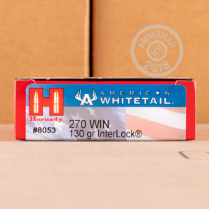 A photo of a box of Hornady ammo in 270 Winchester.