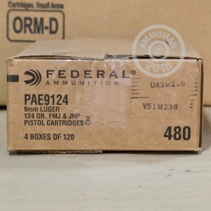 Photo of 9mm Luger FMJ ammo by Federal for sale.