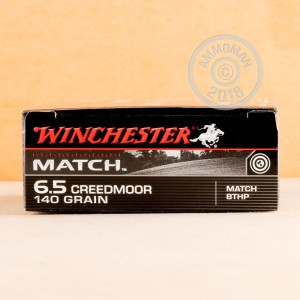 Image of 6.5MM CREEDMOOR ammo by Winchester that's ideal for precision shooting.