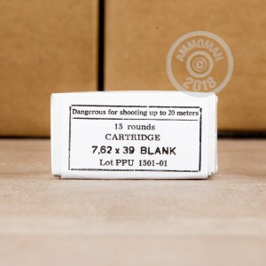 A photo of a box of Prvi Partizan ammo in 7.62 x 39 that's often used for training at the range.