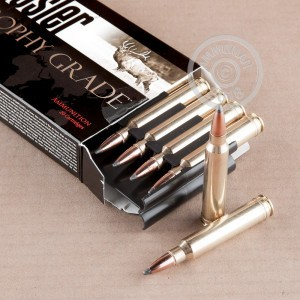 Photo of 300 Winchester Magnum soft point ammo by Nosler Ammunition for sale.