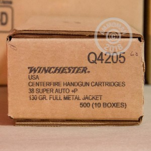Image of 38 Super ammo by Winchester that's ideal for precision shooting, training at the range.