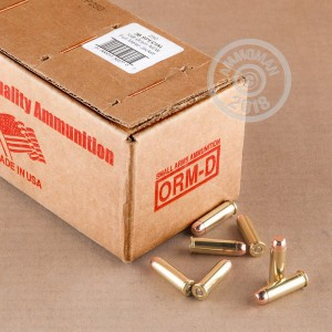 Photo of 38 Special FMJ ammo by American Quality Ammunition for sale at AmmoMan.com.