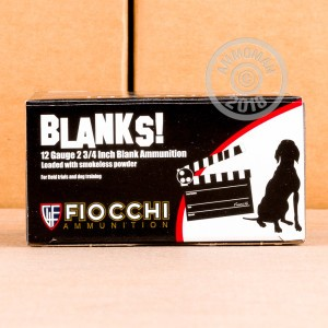 Great ammo for shotgun blanks, these Fiocchi rounds are for sale now at AmmoMan.com.
