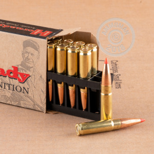 Image of 300 AAC Blackout ammo by Hornady that's ideal for hunting wild pigs, whitetail hunting.