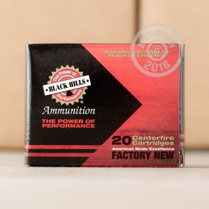 An image of 9mm Luger ammo made by Black Hills Ammunition at AmmoMan.com.
