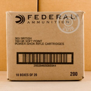 A photo of a box of Federal ammo in 303 British.
