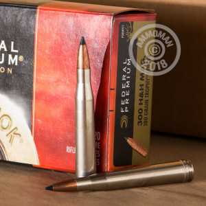 Image of Federal 300 H&H Magnum rifle ammunition.