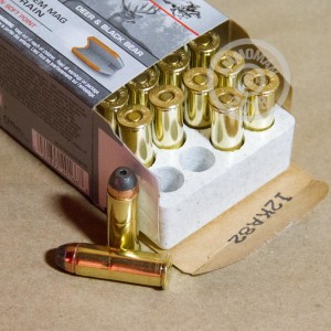 A photo of a box of Winchester ammo in 44 Remington Magnum.