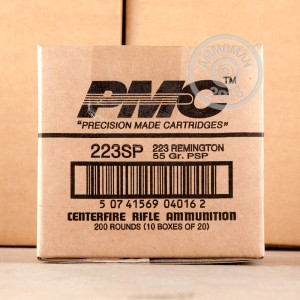 A photo of a box of PMC ammo in 223 Remington.