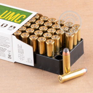 Image of 357 Magnum ammo by Remington that's ideal for big game hunting, home protection, hunting wild pigs, whitetail hunting.