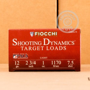 ammo made by Fiocchi with a 2-3/4