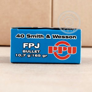 Photo of .40 Smith & Wesson FMJ ammo by Prvi Partizan for sale at AmmoMan.com.