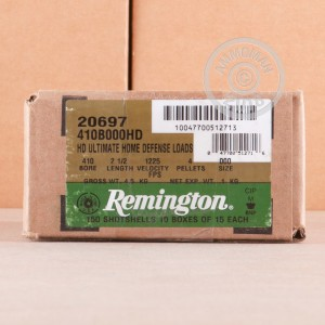 Photo of Remington shotgun ammo in 410 Bore.