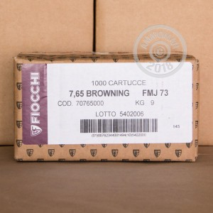 An image of .32 ACP ammo made by Fiocchi at AmmoMan.com.