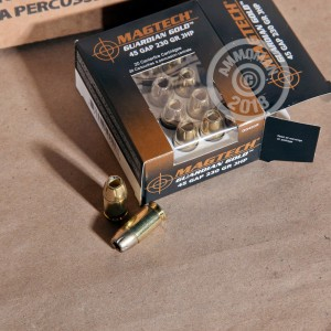 Image of Magtech .45 GAP pistol ammunition.