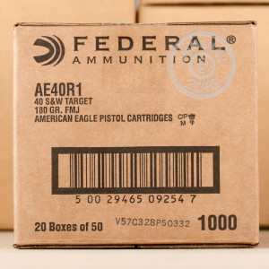 Image of .40 Smith & Wesson ammo by Federal that's ideal for training at the range.