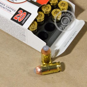 Image of .45 Automatic ammo by PowRBall Ammunition that's ideal for home protection.