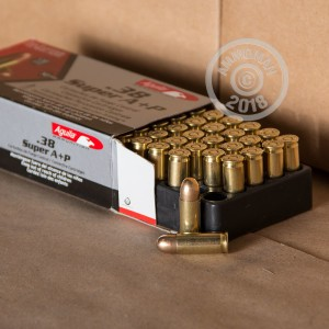 Photo of 38 Super FMJ ammo by Aguila for sale at AmmoMan.com.