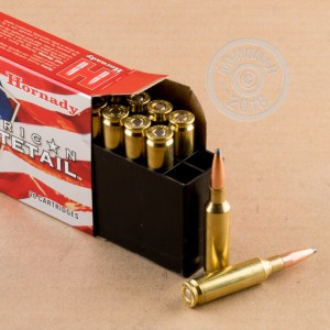 Image of 6.5MM CREEDMOOR ammo by Hornady that's ideal for whitetail hunting.