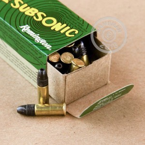 rounds of .22 Long Rifle ammo with Lead Hollow Point (LHP) bullets made by Remington.
