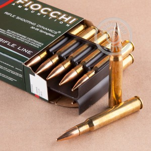 A photograph of 20 rounds of 150 grain 30.06 Springfield ammo with a FMJ-BT bullet for sale.