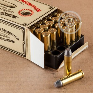 Image detailing the brass case and boxer primers on the Black Hills Ammunition ammunition.