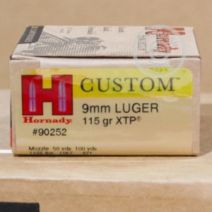 Photo of 9mm Luger JHP ammo by Hornady for sale at AmmoMan.com.