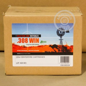 Image of 308 / 7.62x51 ammo by Australian Defense Industries that's ideal for whitetail hunting.