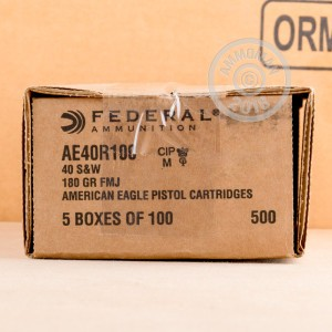 Image of Federal .40 Smith & Wesson pistol ammunition.