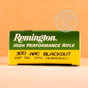 Image of 300 AAC Blackout ammo by Remington that's ideal for precision shooting, training at the range.