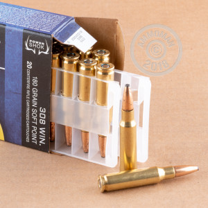 Image detailing the brass case on the Federal ammunition.