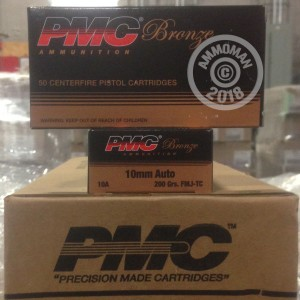 Photo of 10mm Full Metal Jacket Truncated Cone (FMJTC) ammo by PMC for sale at AmmoMan.com.