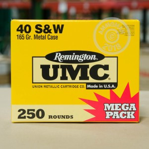Image of Remington .40 Smith & Wesson pistol ammunition.