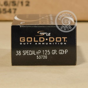 A photograph of 1000 rounds of 125 grain 38 Special ammo with a JHP bullet for sale.