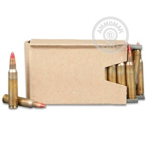 Image of bulk 5.56x45mm ammo by Lake City that's ideal for training at the range.