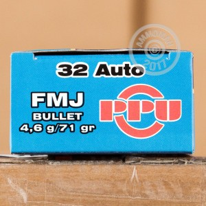 Photo of .32 ACP FMJ ammo by Prvi Partizan for sale at AmmoMan.com.