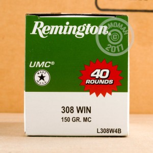 Photo of 308 / 7.62x51 metal case ammo by Remington for sale.