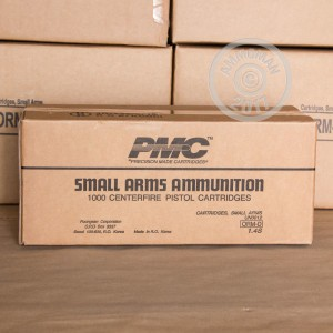 Photo of .40 Smith & Wesson FMJ ammo by PMC for sale at AmmoMan.com.