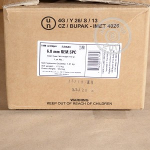An image of 6.8 SPC ammo made by Sellier & Bellot at AmmoMan.com.