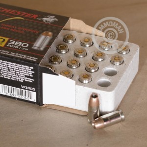 Photo of .380 Auto JHP ammo by Winchester for sale at AmmoMan.com.