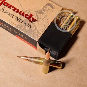Photo of 338 Lapua Magnum Hollow-Point Boat Tail (HP-BT) ammo by Hornady for sale.
